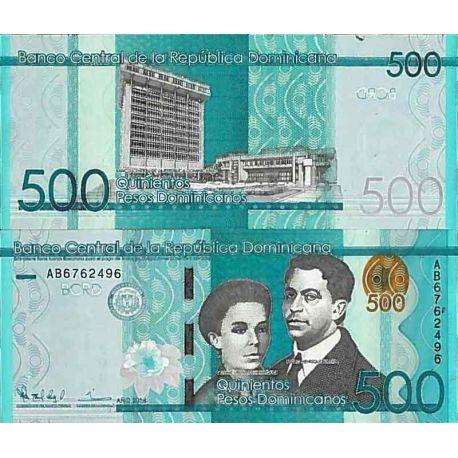Billets de collection Billet de banque collection Republique Dominicaine - PK N° 192 - 500 Pesos Billets de République Domini...