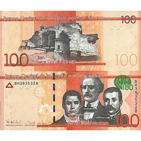 Billets de collection Billet de banque collection Republique Dominicaine - PK N° 190 - 100 Pesos Billets de République Domini...