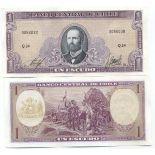 Collezione di banconote Chile Pick numero 136 - 1 Peso 1962