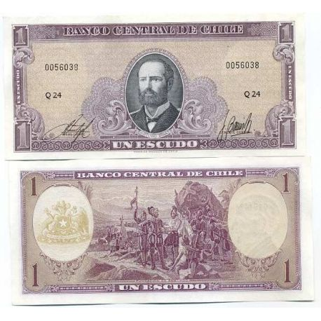 Chili - Pk N° 136 - Billet de 1 Escudo