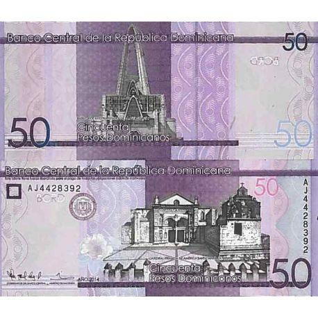 Billets de collection Billet de banque collection Republique Dominicaine - PK N° 189 - 50 Pesos Billets de République Dominic...