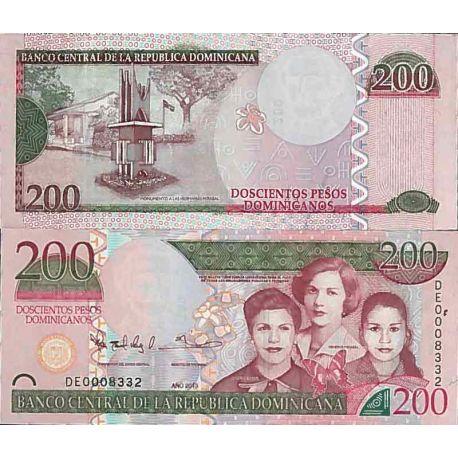 Billets de collection Billet de banque collection Republique Dominicaine - PK N° 185 - 200 Pesos Billets de République Domini...