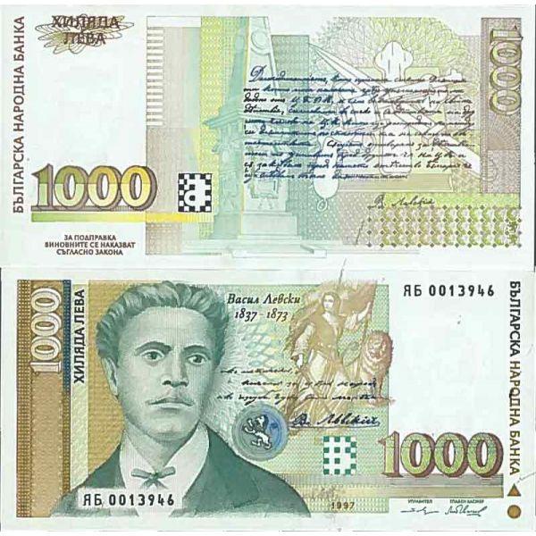 Billet de banque collection Bulgarie - PK N° 110 - 1 000 Leva - La Maison du Collectionneur