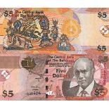 Billet de banque collection Bahamas - PK N° 72 - 5 Dollars
