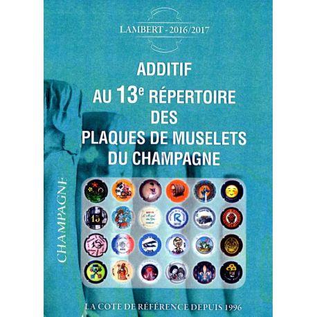 Additif Lambert 2016/17 des plaques de muselet de champagne