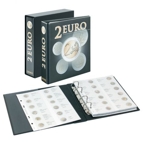 Album Lindner prestampato per 2 euro commemorative 2004/2014