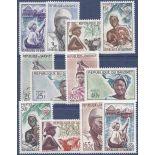 Stempel Sammlung Dahomey N° Yvert und Tellier 179/190 neun ohne Scharnier
