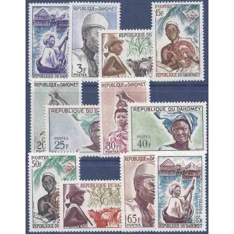 Francobollo raccolta Dahomey N° Yvert e Tellier 179/190 nove senza cerniera