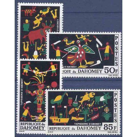 Francobollo raccolta Dahomey N° Yvert e Tellier 218/221 nove senza cerniera