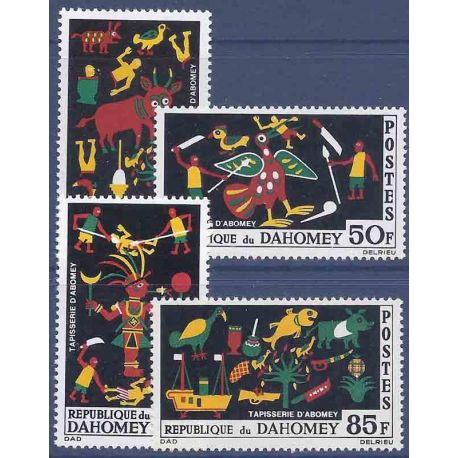 Timbre collection Dahomey N° Yvert et Tellier 218/221 Neuf sans charnière