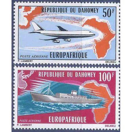 Francobollo raccolta Dahomey N° Yvert e Tellier PA 147/148 nove senza cerniera