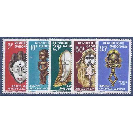 Stempel Sammlung Gabun N° Yvert und Tellier 187/189 neun ohne Scharnier