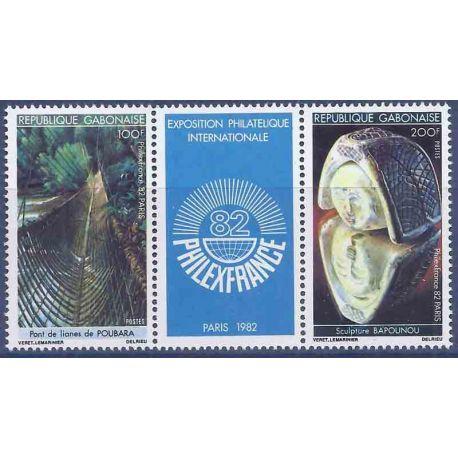 Francobollo raccolta Gabon N° Yvert e Tellier 494A Neuf senza cerniera