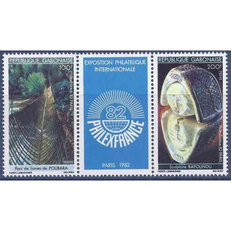 Stempel Sammlung Gabun N° Yvert und Tellier 494A Neuf ohne Scharnier