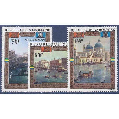 Stempel Sammlung Gabun N° Yvert und Tellier PA 124/126 neun ohne Scharnier