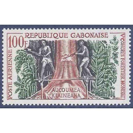 Francobollo raccolta Gabon N° Yvert e Tellier PA 2 nove senza cerniera