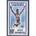 Timbre collection Gabon N° Yvert et Tellier PA 6 Neuf sans charnière