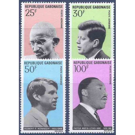 Francobollo raccolta Gabon N° Yvert e Tellier PA 80/83 nove senza cerniera