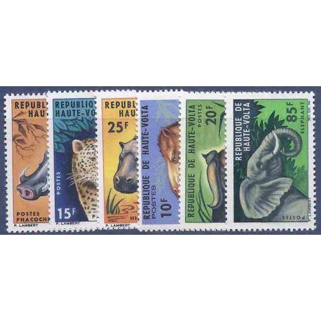 Sello colección Alto Volta N° Yvert y Tellier 148/153 Nueve sin bisagra