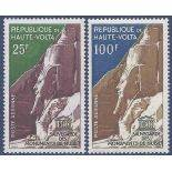 Stamp collection the Upper Volta N° Yvert and Tellier Pa 12/13 Nine without hinge