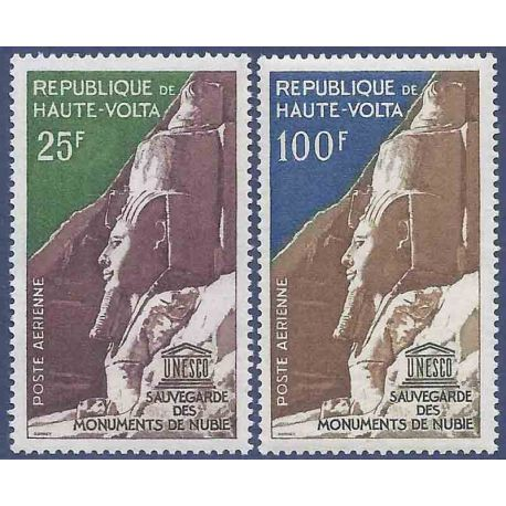 Timbre collection Haute-Volta N° Yvert et Tellier PA 12/13 Neuf sans charnière