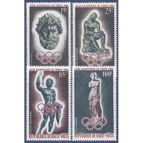 Sello colección Alto Volta N° Yvert y Tellier PA 14/17 Nueve sin bisagra