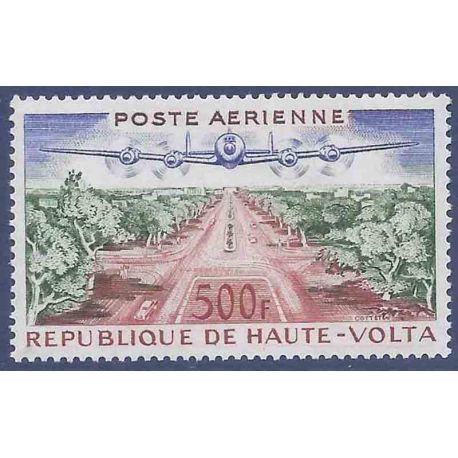 Sello colección Alto Volta N° Yvert y Tellier PA 3 Nueve sin bisagra