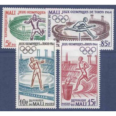 Timbre collection Mali N° Yvert et Tellier 63/66 Neuf sans charnière