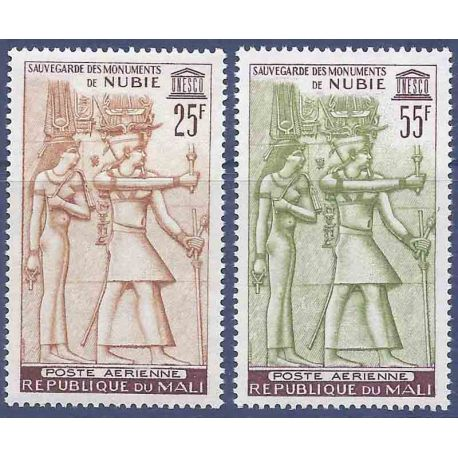 Timbre collection Mali N° Yvert et Tellier PA 22/23 Neuf sans charnière