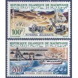 Stempel Sammlung Mauretanien N° Yvert und Tellier PA 24/25 neun ohne Scharnier