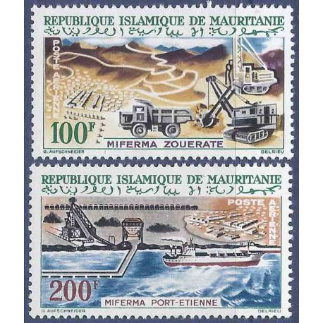 Timbre collection Mauritanie N° Yvert et Tellier PA 24/25 Neuf sans charnière