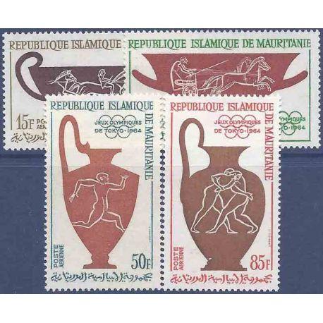 Stempel Sammlung Mauretanien N° Yvert und Tellier PA 40/43 neun ohne Scharnier