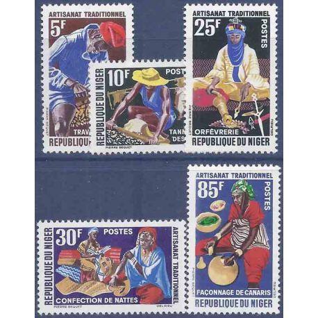 Stempel Sammlung Niger N° Yvert und Tellier 123/127 neun ohne Scharnier