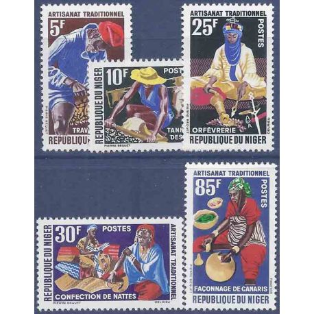 Timbre collection Niger N° Yvert et Tellier 123/127 Neuf sans charnière