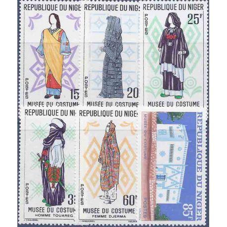 Stempel Sammlung Niger N° Yvert und Tellier 128/133 neun ohne Scharnier