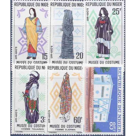 Timbre collection Niger N° Yvert et Tellier 128/133 Neuf sans charnière
