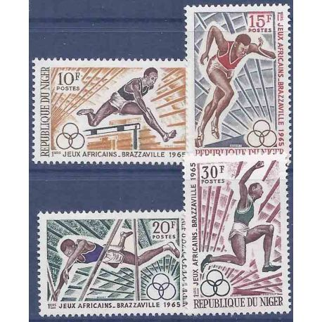 Timbre collection Niger N° Yvert et Tellier 165/168 Neuf sans charnière