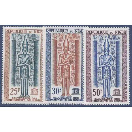 Stempel Sammlung Niger N° Yvert und Tellier PA 38/40 neun ohne Scharnier