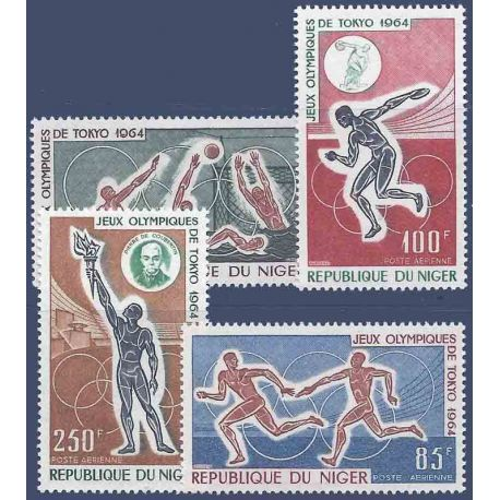 Timbre collection Niger N° Yvert et Tellier PA 45/48 Neuf sans charnière