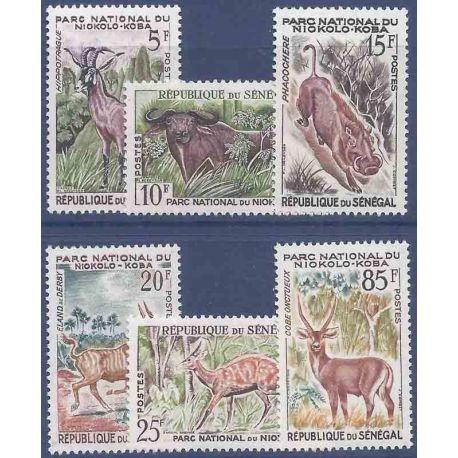 Sello colección Senegal N° Yvert y Tellier 198/203 Nueve sin bisagra