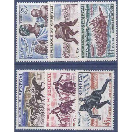 Sello colección Senegal N° Yvert y Tellier 205/209 Nueve sin bisagra