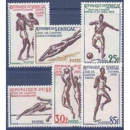 Sello colección Senegal N° Yvert y Tellier 217/222 Nueve sin bisagra