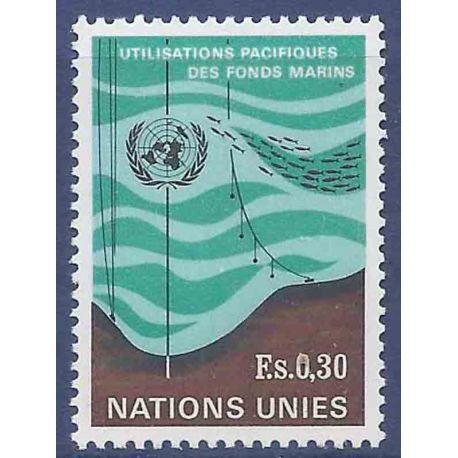 Francobollo raccolta ONU Ginevra N° Yvert e Tellier 15 nove senza cerniera