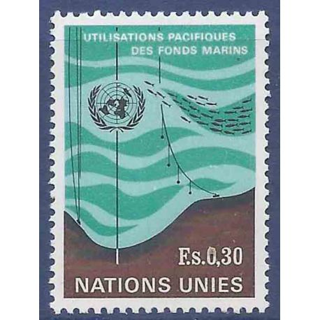 Timbre collection ONU Genève N° Yvert et Tellier 15 Neuf sans charnière
