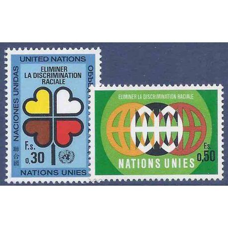 Francobollo raccolta ONU Ginevra N° Yvert e Tellier 19/20 nove senza cerniera