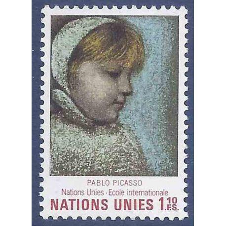 Francobollo raccolta ONU Ginevra N° Yvert e Tellier 21 nove senza cerniera