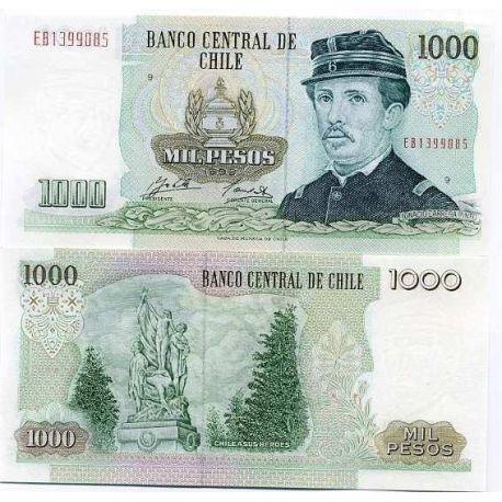 Billet de collection Chili Pk N° 154 - 1000 Pesos