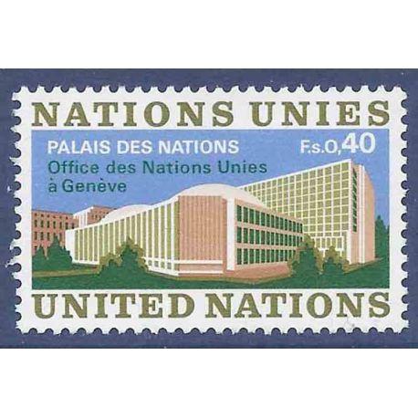 Francobollo raccolta ONU Ginevra N° Yvert e Tellier 22 nove senza cerniera