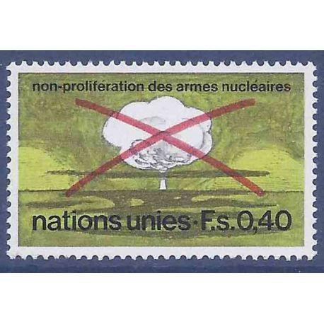 Francobollo raccolta ONU Ginevra N° Yvert e Tellier 23 nove senza cerniera