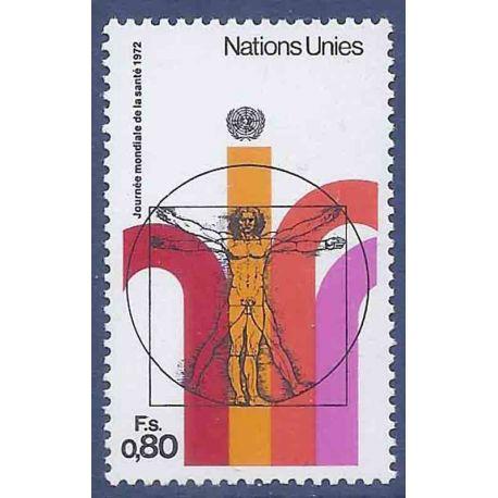 Timbre collection ONU Genève N° Yvert et Tellier 24 Neuf sans charnière